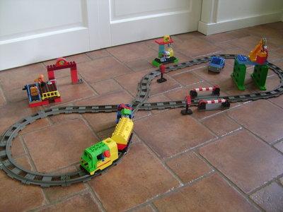 Lego Duplo Ville 5609 Luxe trein set (trein met messing tandwiel)