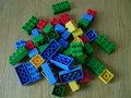 Partij blokken / bouwstenen (basiskleuren) / blokkenset