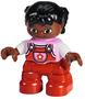 Getint-meisje-met-rode-tuinbroek-roze-trui-en-2-staartjes-(NIEUW)