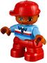 Getint-jongetje-kind-rode-broek-blauwe-trui-en-rode-pet-(NIEUW)